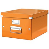 Image of Leitz WOW Click & Store Storage Box / Medium / A4 / Orange