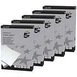 Image of 5 Star A4 Smooth Copier Paper / High White / 90gsm / Box (5 x 500 Sheets)