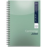 Image of Cambridge Jotter Wirebound Notebook / A4 / Ruled / 200 Pages / Pack of 3