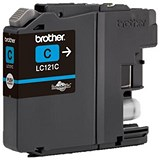 Image of Brother LC121C Cyan Inkjet Cartridge