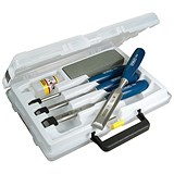 Stanley Chisel Set and Sharpening Kit / Storage Box / Set of 4