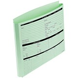Image of Personnel Wallets / Extra Capacity Expandable Gusset / Pre-printed / Green / Pack of 50