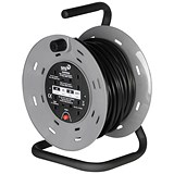 Image of 4-Way Extension Reel with Carry Handle / 13 Amp / 25m