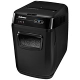 Image of Fellowes AutoMax 130C Professional Shredder 4x51mm Cross Cut 32 Litre P-3 130 Sheets Ref 4680201