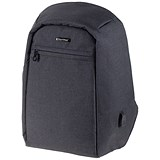 LightPak Safepak Backpack With 12 inch Laptop Case / Nylon / Black