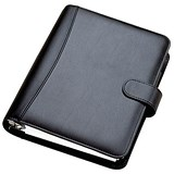 Image of Collins Chatsworth Pocket Organiser / Padded PU / 2017 Diary Insert Refills / 120x81mm / Black