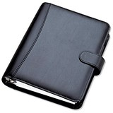 Image of Collins Chatsworth Organiser / Padded Leather / 2017 Diary For Insert Refills / 172x96mm / Black