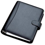 Image of Collins Chatsworth Organiser / Padded Leather / 2017 Diary / Insert Refills / 216x140mm / Black
