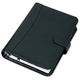 Image of Collins Balmoral Personal Organiser / Leather / 2017 Diary For Insert Refills / 172x96mm / Black