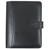 Image of Collins Balmoral Desk Organiser / 7 Ring / Leather / 2017 Diary For Insert Refills / 216x140mm / Black