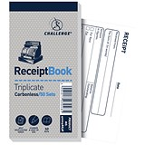 Challenge Carbonless Receipt Triplicate Book / 50 Receipts / 140x70mm / Pack of 10