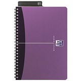 Image of Oxford Metallics Wirebound Notebook / A4 / Ruled / 180 Pages / Purple / Pack of 5