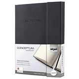 Sigel Conceptum Hard Cover Notebook / A5 / Magnetic Fastener / Ruled / 194 Pages
