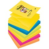 Post-it Super Sticky Z-Notes / 76x76mm / Rio / Pack of 6 x 90 Notes