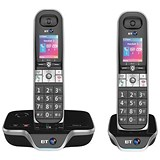 Image of BT 8600 DECT Twin Telephone Answer Machine Cordless SMS 200-Entry Directory 30 Redials Ref 54632