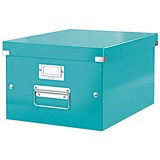 Image of Leitz WOW Click & Store Storage Box / Medium / A4 / Ice Blue