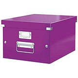 Image of Leitz WOW Click & Store Box / Medium / A4 / Purple