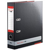 Image of Black n Red A4 Lever Arch File / 80mm Spine / Black
