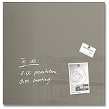 Image of Sigel Artverum Tempered Glass Board / Magnetic / W480xH480mm / Taupe