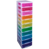 Image of Really Useful Storage Tower / 11 Drawers 11x7L / Clear & Assorted