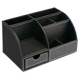 Image of Invo Desk Organiser - Brown Faux Leather
