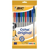 Image of Bic Cristal Ball Pen / Assorted Colours / Pack of 10