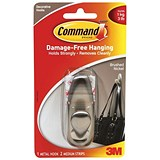 Image of Command Adhesive Single Metal Hook / Medium / Nickel