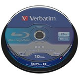 Image of Verbatim BD-R Blu Ray Spindle - Pack of 10