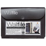 Image of Wall File / Polypropylene / 7 Pockets / A4 / Black