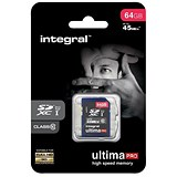 Image of Integral Ultima Pro SDHC Media Memory Card / Class 10 / 64GB