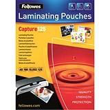Image of Fellowes A5 Laminating Pouches / 250 Micron / Glossy / Pack of 100