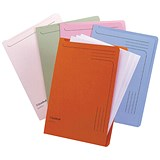 Image of Guildhall Slipfile 230gsm Capacity 50 Sheets A4 Assorted Ref 14600 [Pack 50]