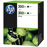 Image of HP 300XL High Yield Black Ink Cartridge (Twin Pack)