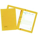 Image of Guildhall Transfer Spring Files 315gsm Capacity 38mm Foolscap Yellow Ref 348-YLWZ [Pack 50]
