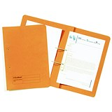Image of Guildhall Transfer Files / 315gsm / Foolscap / Orange / Pack of 50