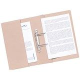 Image of Guildhall Transfer Spring Files with Inside Pocket 315gsm 38mm Foolscap Buff Ref 349-BUFZ [Pack 25]