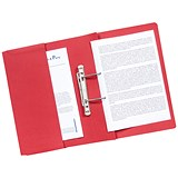 Image of Guildhall Transfer Spring Files with Inside Pocket 315gsm 38mm Foolscap Red Ref 349-REDZ [Pack 25]