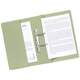 Image of Guildhall Transfer Spring Files with Inside Pocket 315gsm 38mm Foolscap Green Ref 349-GRNZ [Pack 25]