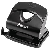 Image of Rexel V230 Value 2-Hole Punch / Black / Punch capacity: 30 Sheets