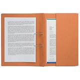 Image of Guildhall Transfer Spring File 315gsm Back Pocket Foolscap Orange 211/9063Z [Pack 25]