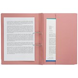 Image of Guildhall Back Pocket Transfer Files / 315gsm / Foolscap / Pink / Pack of 25