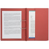 Image of Guildhall Transfer Spring File 315gsm Back Pocket Foolscap Red 211/9065Z [Pack 25]
