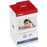 Image of Canon KP-108IN Inkjet Cartridge Multipack - Includes 3 Colour Inkjet Cartridges and 108 Sheets of 10 x 15cm Paper