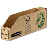Image of Bankers Box Storage Bin / Corrugated Fibreboard / Packed Flat / 51x280x102mm / Pack of 50
