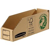 Image of Bankers Box Storage Bin / Corrugated Fibreboard / Packed Flat / 76x280x102mm / Pack of 50