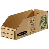 Image of Bankers Box Storage Bin / Corrugated Fibreboard / Packed Flat / W98xD280xH102mm / Pack of 50