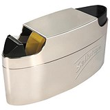 Image of Sellotape Executive Dispenser / Capacity: 25mm Width, 66m Length / Integral Pen Tidy / Chrome