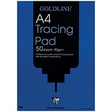 Image of Goldline Professional Tracing Pad / A4 / 90gsm / 50 Sheets / Pack of 5