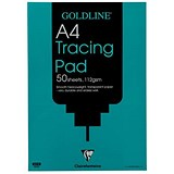 Goldline Heavyweight Tracing Pad / A4 / 112gsm / 50 Sheets / Pack of 5