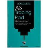 Goldline Heavyweight Tracing Pad / A3 / 112gsm / 50 Sheets / Pack of 5